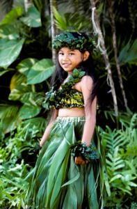 Юбка из листьев пальмы