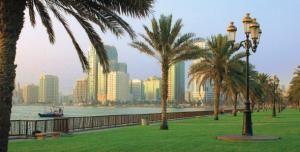 Восхитительный городок Шарджа в Эмиратах