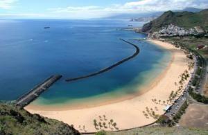 Роскошный пляж на острове Тенерифе