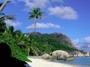 Морское побережье на Сейшелах