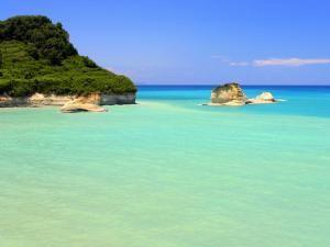 Пляж на острове Корфу,Греция