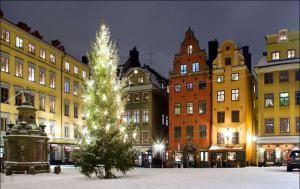 Улицы Швеции во время Рождества