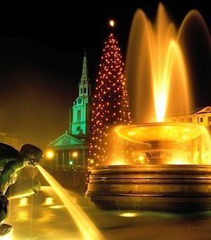 Рождественская ёлка на Трафальгарской площади в Лондоне