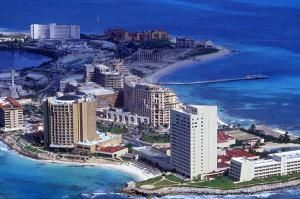 Вид на Канкун