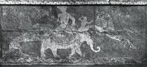 Стенная роспись из дворца в Варахше