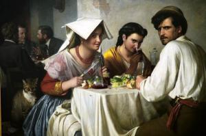 """Карл Генрхих  Блох """"В римской остерии"""" (1866)"""