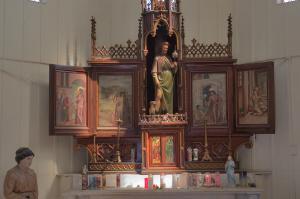 Алтарь в частовне святого Роха со статуе святого Роха