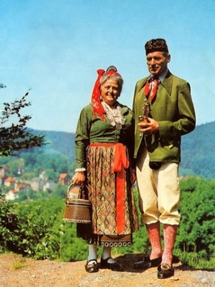 Народные костюмы германии
